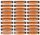 50 x 24V 24 Volt SMD 6 LED ambré marquage latéral FEU POSITION CAMION REMORQUE