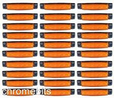 100 x 24V 24 VOLT SMD 6 LED BERNSTEIN SEITLICHE BEGRENZUNGSLEUCHTE POSITION-LKW
