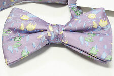 New No Name Brand Silk Dress Suit Bow Tie Purple Blue Yellow Green Adjustable