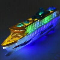 Music Cruise Ship Aidaluna Model Ship Toy LED Flash Cruise Ship US