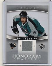 JOE THORNTON Sharks 2006/07 Upper Deck Trilogy Honorary Swatches Jersey Card