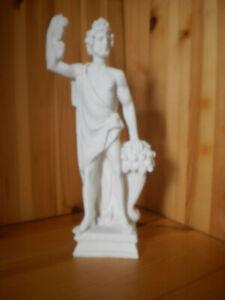DIONYSOS STATUE AUS ALABASTER (BACCHUS) SKULPTUR GOTT des WEINES & FRUCHTBARKEIT