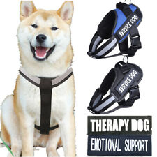 Pet Dog Chest Plate Harness Reflective Vest Removable Patches Emotional Support