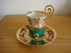"""""""BAVARIA"""" Western Germany Highly Decorative Porcelain Ornate Cup and Saucer"""