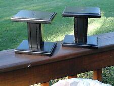 Small Black Speaker Stands 6  X 4  X 6  HIGh....