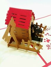 3D Origami Pop-Up Cards for lovely dogs and cats, sweet home buy 3 get 1 free