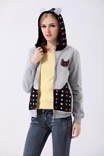 Brand New Japan Mori Style Cartoon Cat Hoodie Jacket Cardigan Sweatshirt XS