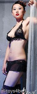 New SEXY TIE HALTER NECK BRA WITH SUSPENDER G STRING - Australian Seller - BL067