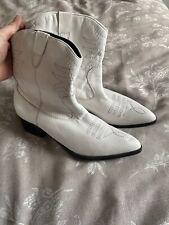 Blanco Botas De Vaquero 4