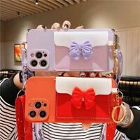 Bowknot Leather Flip Wallet Case Cover For iPhone 12 Mini/11 Pro Max/XR/XS/8 7+