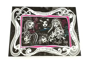 Monster High Light Up Canvas Wall Art Kids Room Picture Plaque