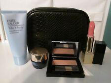 Estee Lauder 5 Pc makeup bag travel set Pure Envy Color Desirable Bronze Goddess