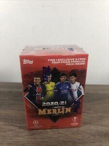 2020 - 2021 Topps UEFA Soccer Merlin Blaster Box Factory Sealed & In Hand!!!