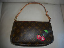 AUTHENTIC LOUIS VUITTON MONOGRAM CHERRY CERIES POCHETTE ACCESSOIRES