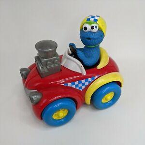 "Sesame Street COOKIE MONSTER CAR 6"" Press & Go Racer 1998 TYCO Vintage Toy"