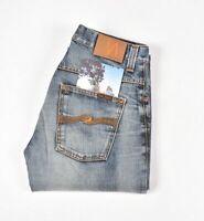 Nudie Jeans Hank Rey Org. Contrast Bleu Hommes Jean En Taille 31/34