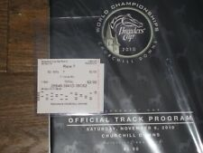 2010 Breeders' Cup Program & $ 2 Win and Results Souvenir Ticket (Uncle Mo)