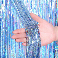 1/2/3M Tinsel Curtains Foil Shimmer Streamers Curtain Door Window Party Decor