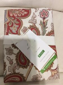 Pottery Barn Charlie Paisley Organic King Sham Queen NWT! Red