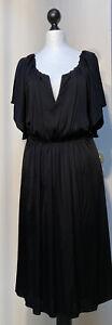 ALBERTA FERRETTI Kleid,Gr.38,schwarz ,100% RAYON(VISCOSE),kurzarm Top Zustand