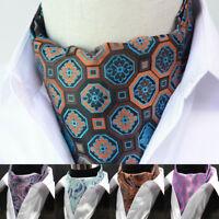 Casual Men's Cravat  Ascot Ties Geometric Floral Jacquard Woven Silk Cravat Tie