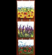 FLOWERS 💐 3 in 1,  3x 20cmx20cm Original Abstract Acrylic Painting Large Canvas