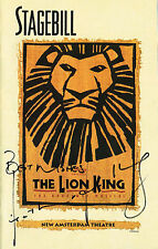 Heather Headly SIGNED Stagebill Playbill The Lion King Original Cast OBC COA