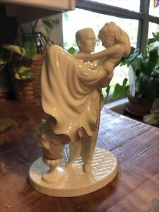 "LENOX 9"" Swept Away Porcelain Cake Topper - Wedding Promises Collection Bride"