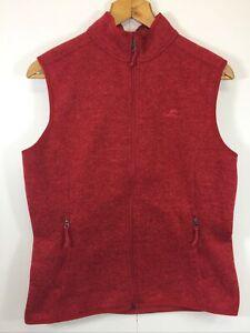 Kathmandu Women's Vest Size 14 Red Front Zip Outdoor Camp Hiking Walking Casual