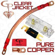 100 AMP ANL Fuse Holder INLINE Block BATTERY INSTALL KIT 1/0 AWG GAUGE COPPER C