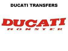 Ducati Monster Transfer Decal Size 150x28mm DD505 Red