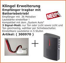 Klingel Erweiterung Funkklingel für bestehende Klingelanlage Batterie-Empfänger