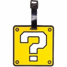 Super Mario Question bloc caoutchouc bagages Sac Tag valise-Nintendo Voyage