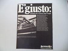 advertising Pubblicità 1969 AUTORADIO AUTOVOX MELODY MA 361