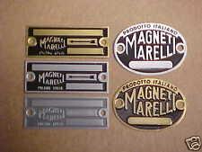 Magneti Marelli Acid Etched Data Plate Italia Starter & Generator & Distributors