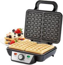 Andrew James Waffle Maker 2 Slice Belgian Style Square Waffles - Non Stick