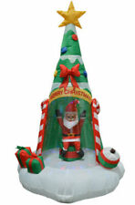 Impact Canopy Christmas Inflatable Decorations, Outdoor Holiday Lighted Santa wi
