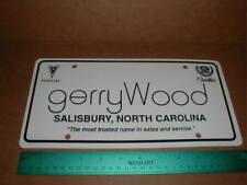 Cadillac Pontiac Gerry Wood plastic car dealer license plate tag Salisbury NC NM