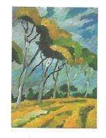 AK, Künstlerkarte von Sigrun Stütten, Herbstwind
