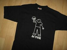 Actor / Waiter Tee - Vintage 1980's USA Entertainment Reality Check T Shirt Sm