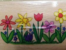 Stampcraft Spring Flowers NEW Mounted Rubber Stamp Teresa Walsh