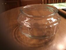 Vintage Clear Glass Fish Bowl Terrarium 9.5� Wide, 5.5� Tall 6.5� Opening