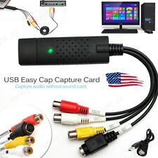 Easycap USB Audio VHS To DVD Converter Capture Recorder Analog Video Digital USA