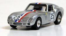 Busch 1/87 HO Ferrari 250 GTO #25 Silver Tri-Color SCALE PLASTIC REPLICA 42617