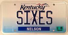 Vanity SIXES license plate Board Game Sevens Triple Digit 6 666 Devil Play Dice
