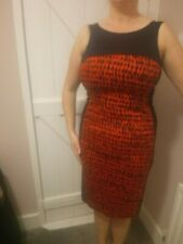 French Connection Navy Red bodycon dress size 12