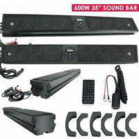 "Gravity 600W 35"" 8 Speaker Bluetooth Marine Polaris/ATV/UTV/RZR Soundbar System"