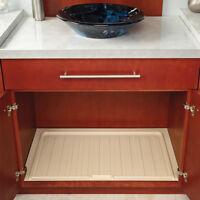 "Rev-A-Shelf Almond Undersink Bathroom Vanity Drip Trays for 21"" - 33"" Cabinets"