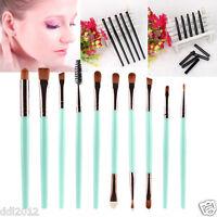 10PCS Makeup Brush Set Eye Shadow Eyebrow Eyeliner Eyelashes Lip Make Up Brushes
