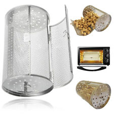 Stainless Steel BBQ Rotisserie Grill Oven Roaster Tumble Beans Peanut Basket AM8